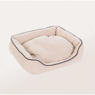cama acolchada suave gato-beis