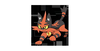 727 726 Gato Pokémon Incineroar