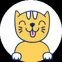 gato macho icono
