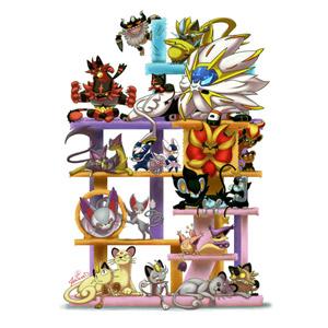 Gatos Pokémon by u / Jarzardart