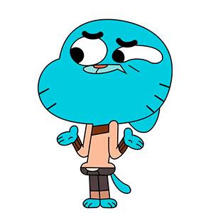 Gumball nombre de gato famoso de dibujos animados de televisión