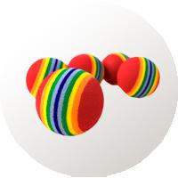 juguetes gatos pelotas