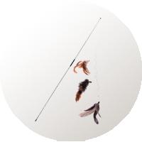 juguetes gatos pesca ratón
