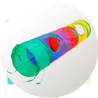 juguetes gatos túnel interactivo