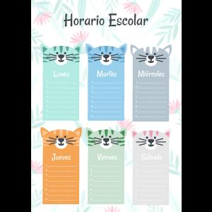 planning semanal gatos con consejos para cuidar de tu gato después de las vacaciones de verano ilustración maletas y gatos